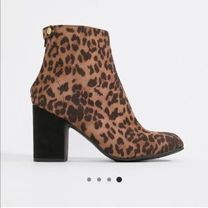 New Look Leopard Print Booties! New with Box!!